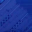 Blue electronic circuit board — Stock Photo