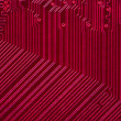 Red electronic circuit board — Stock Photo