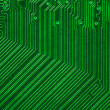 Green electronic circuit board — Stock Photo
