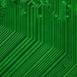 Green electronic circuit board — Stock Photo