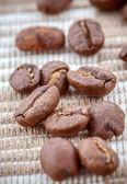 Närbild av kaffebönor — Stockfoto
