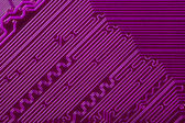 Violet electronic circuit board — Stock Photo