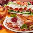 Arrangement of many types of meats - Stock Photo