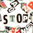 Stop inscription — Stockfoto