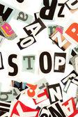 Stop inscription — Stock Photo