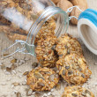 Crispy cookies with pumpkin and sunflower seed — Stock Photo