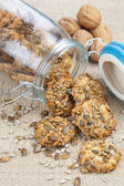 Хрустящее печенье с семенами тыквы и подсолнечника — Стоковое фото