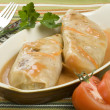 Foto Stock: Stuffed cabbage roll