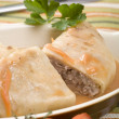 Stuffed cabbage roll — 图库照片