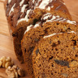 Dark fruitcake — Stock Photo