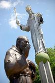 Beeld van jezus christus in ustron, polen. — Stockfoto