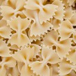 Close-up of raw farfalle pasta — Stock Photo