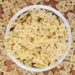 Uncooked pasta top view - Foto de Stock