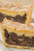 Poppy-seed cake, closeup — Stock Photo