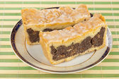 Two slices of poppy-seed cake — Stock Photo