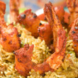 Indian food, Bhuna Prawn, Bhoona Prawn - Stock Photo