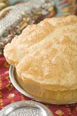 Indian food, Bhatura — Stock Photo