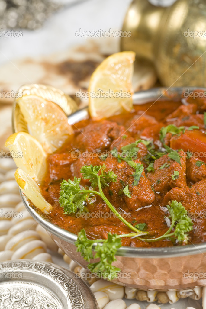 Indian food, Shahi Rogan Josh, lamb — Stock Photo #9807857
