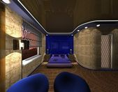 Bedroom design in the style of the Maya — ストック写真