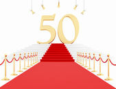 Fiftieth anniversary anniversary on the red carpet — Stock Photo