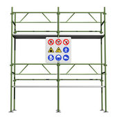 Green scaffold — Stock Photo