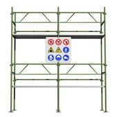 Gröna byggnadsställning — Stockfoto
