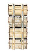 Een stapel van houten kisten — Stockfoto