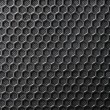 Black Iron Grill with mesh backing — Stock Photo