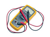 Digital yellow multimeter — Stock Photo