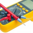 Stock Photo: Digital yellow multimeter