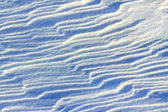 Snow drifts in the morning light — Stock Photo