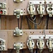 Old switchboard with fuses - Stock Photo