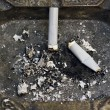 Two cigarette butts in an ashtray — Stock Photo