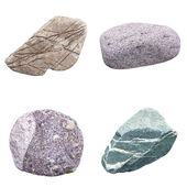Set of four minerals — Stock Photo
