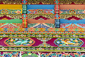 Tibetan architectural decorative ornamentation — Stock Photo