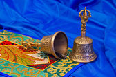 Two Tibetan ritual bells — Stock Photo