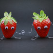 Couple de fraises — Stock Photo
