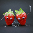 Duo de fraises — Stock Photo