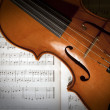 Violon et partitions — Stock Photo