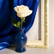 Stock Photo: Rose in a glass vase