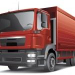 Semi-trailer truck isolated on white — Stock Vector