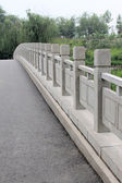 Stone bridge baluster — Foto de Stock