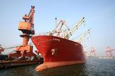 Ocean-going cargo ship — Stock Photo