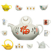 Chinese ceramics product icon — 图库照片