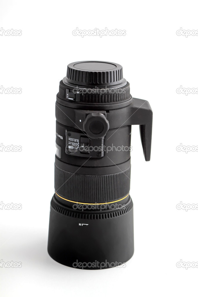 Close up of camera lens, advanced photo equipment — Stock Photo #9418335