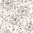 Abstract floral pattern. Seamless pattern with flowers, butterfly — Vettoriale Stock #9317792