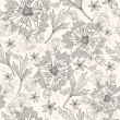 Stockvector : Abstract floral pattern. Seamless pattern with flowers, butterfly