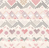 Abstract geometric seamless pattern. Aztec style pattern — Stockvector