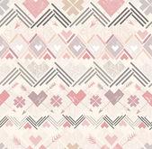 Abstracto geometrico transparente. patrón de estilo azteca — Vector de stock