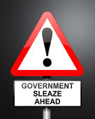 Government sleaze concept. — Stock Photo
